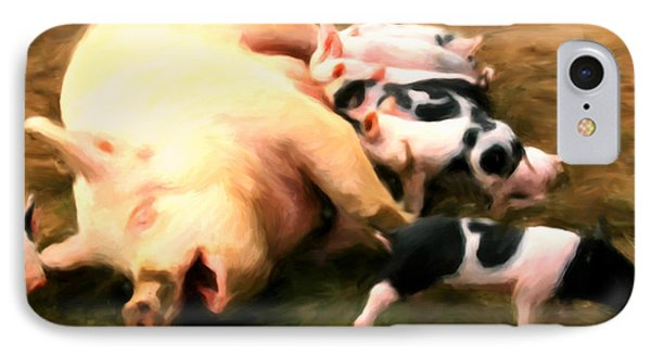 Little Piggies Phone Case by Michael Pickett
