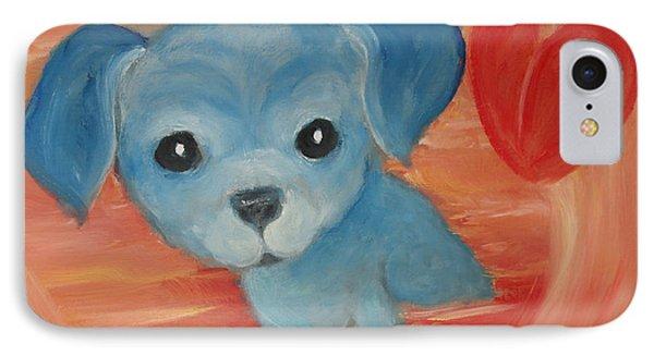 Little Pup Big Heart IPhone Case by Rachel Carmichael