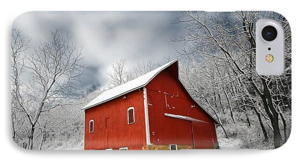 Little Red Barn IPhone Case by Todd Klassy