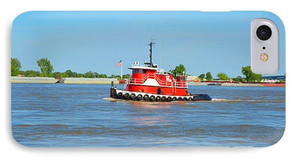 Little Red Boat On The Mighty Mississippi IPhone Case