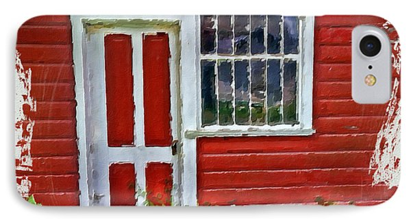 Little Red Cottage IPhone Case by Bonnie Bruno