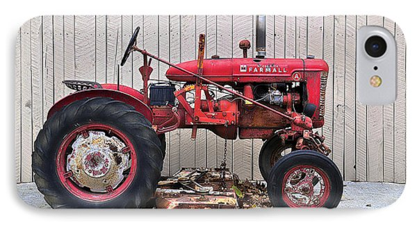 IPhone Case featuring the photograph Little Red Farmall by Craig T Burgwardt