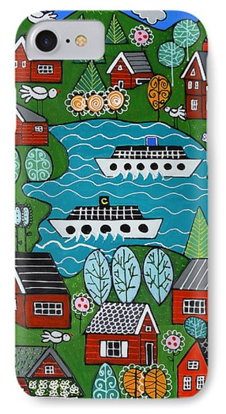 Little Red Norwegian Houses IPhone Case
