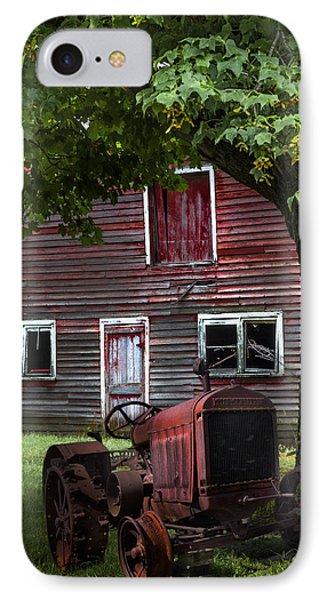 Little Red Tractor IPhone Case by Debra and Dave Vanderlaan