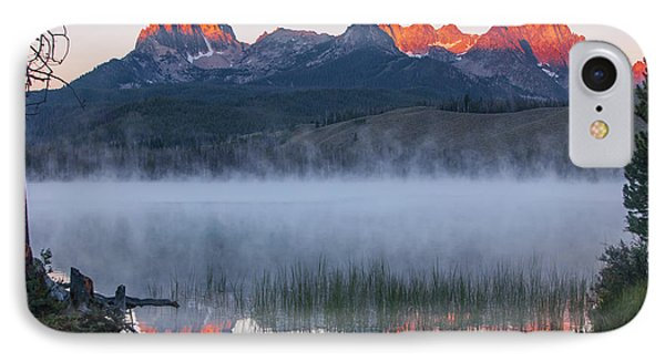 Little Redfish Lake, Snra, Idaho, Red IPhone Case