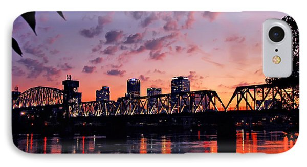 IPhone Case featuring the photograph Little Rock Bridge Sunset by Mitchell R Grosky