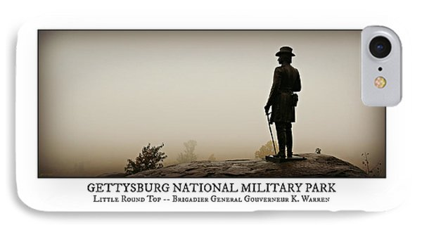 Little Round Top -- Poster IPhone Case by Stephen Stookey
