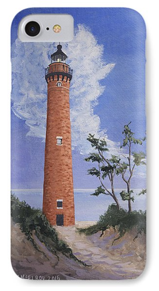 Little Sable Point Lighthouse IPhone Case by Jerry McElroy