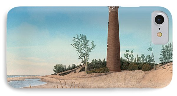 Little Sable Point Lighthouse Phone Case by Darren Kopecky