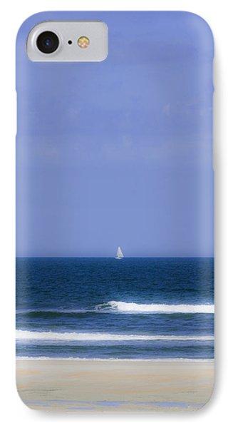 Little Sailboat On Calm Sea IPhone Case by Karen Stephenson