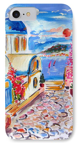 Little Santorini Alley IPhone Case