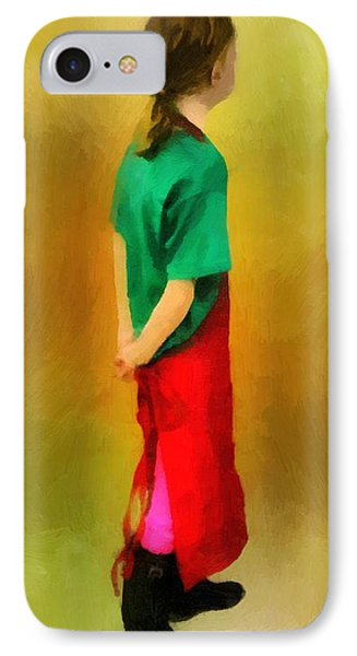 Little Shopgirl IPhone Case by RC deWinter
