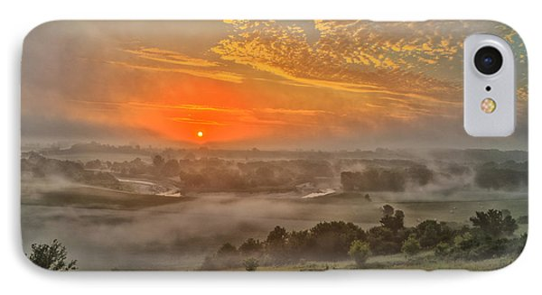 Little Sioux River Valley Sunrise IPhone Case by Bruce Morrison