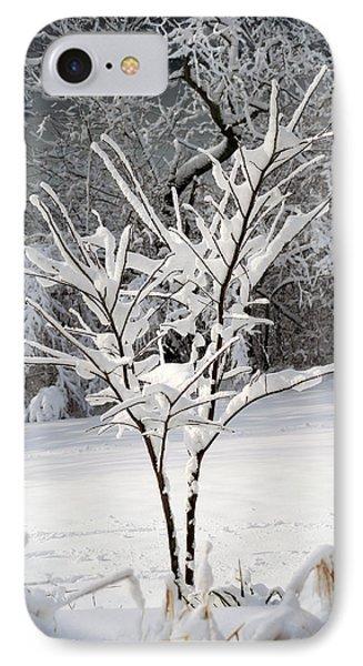 Little Snow Tree Phone Case by Karen Adams