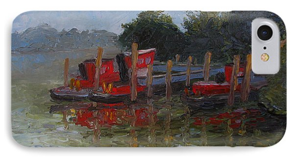 Little Tugs In Holland Michigan IPhone Case