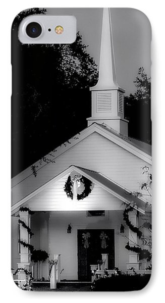 Little White Church Bw IPhone Case