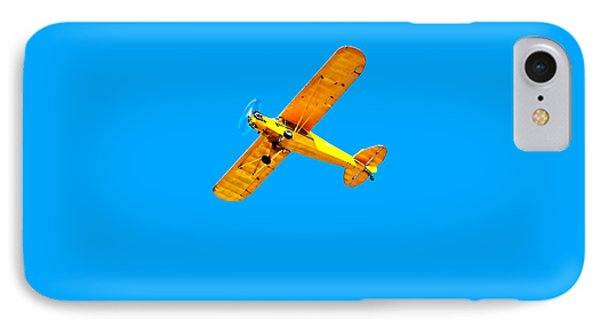 IPhone Case featuring the photograph Little Yellow Flyer Plane by Tracie Kaska