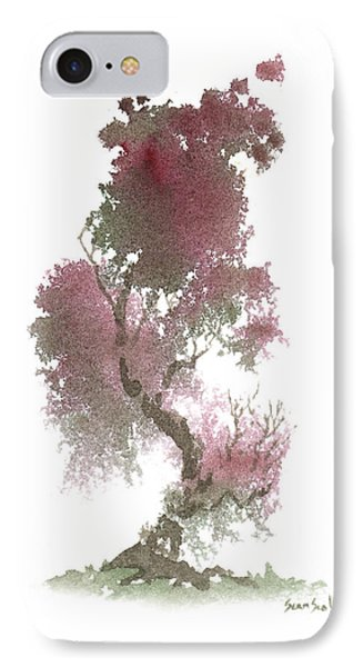 IPhone Case featuring the painting Little Zen Tree 1117 by Sean Seal