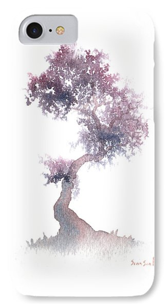 IPhone Case featuring the painting Little Zen Tree 1508 by Sean Seal