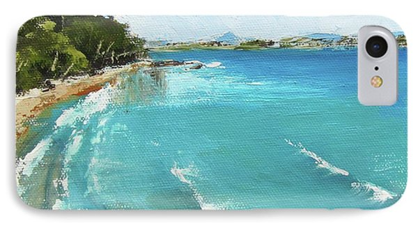 IPhone Case featuring the painting Litttle Cove Beach Noosa Heads Queensland Australia by Chris Hobel