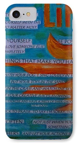 Live A Life Of Gratitude Phone Case by Patti Schermerhorn