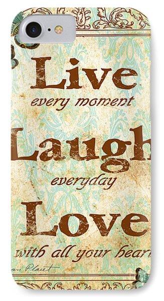 Live-laugh-love IPhone Case