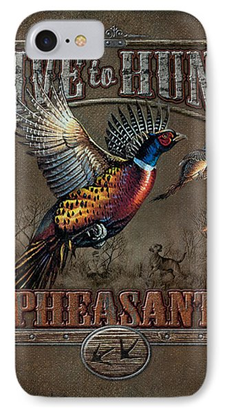 Pheasant iPhone 7 Case - Live To Hunt Pheasants by JQ Licensing