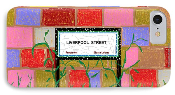 IPhone Case featuring the digital art Liverpool Street - Freetown by Mudiama Kammoh
