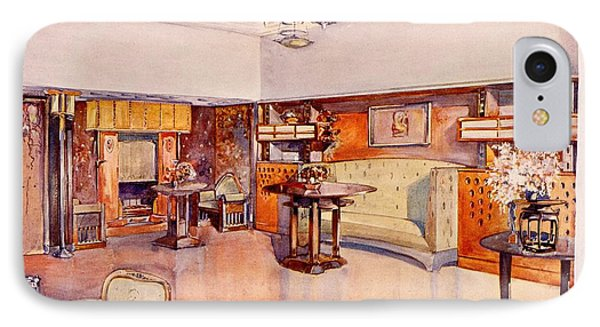 Living Room, 1905 IPhone Case by Alfred Grenander