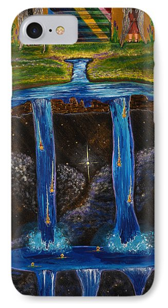 IPhone Case featuring the painting Living Water by Cassie Sears