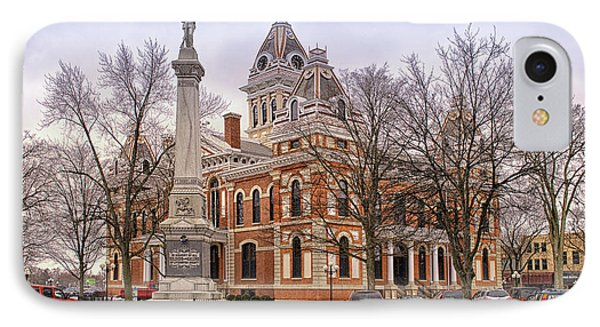 Livingston County Courthouse 06 Pontiac Il Phone Case by Thomas Woolworth