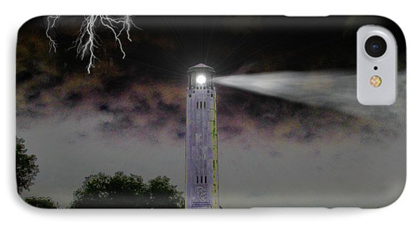 IPhone Case featuring the digital art Livingston Lighthouse by Michael Rucker