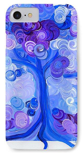 Liz Dixon's Tree Blue Phone Case by First Star Art