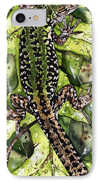 Lizard In Green Nature - Elena Yakubovich IPhone Case