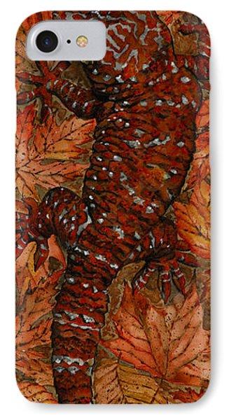 Lizard In Red Nature - Elena Yakubovich IPhone Case by Elena Yakubovich