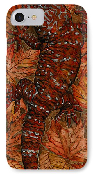 Lizard In Red Nature - Elena Yakubovich IPhone Case