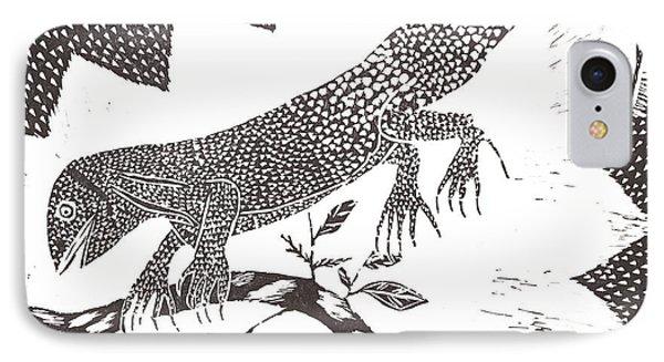 Lizard IPhone Case by Keiskamma art project