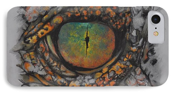 Lizards Eye IPhone Case by Linda Ferreira
