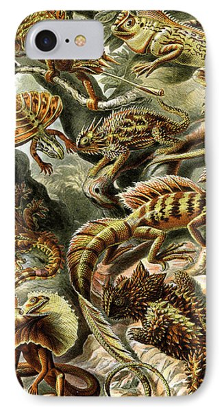 Lizards Lizards And More Lizards Phone Case by Unknown
