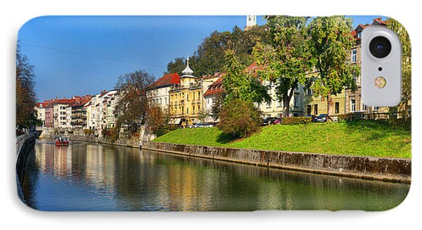 Ljubljanica IPhone Case by Graham Hawcroft pixsellpix