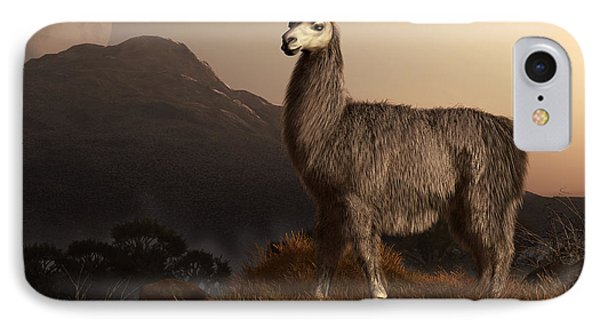 Llama Dawn IPhone Case by Daniel Eskridge