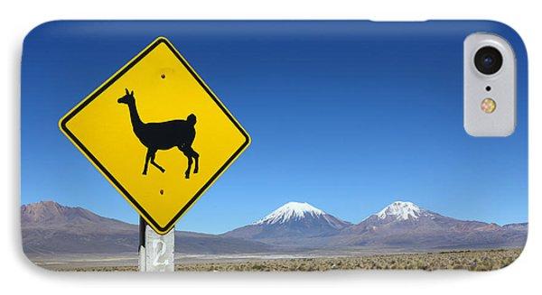 Llamas Crossing Sign IPhone Case