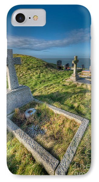 Llanbadrig Cemetery IPhone Case by Adrian Evans
