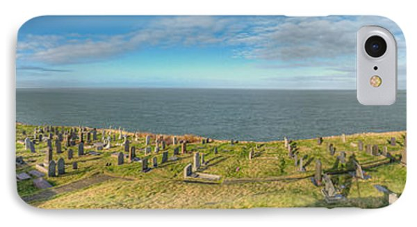 Llanbadrig Church Panorama IPhone Case by Adrian Evans