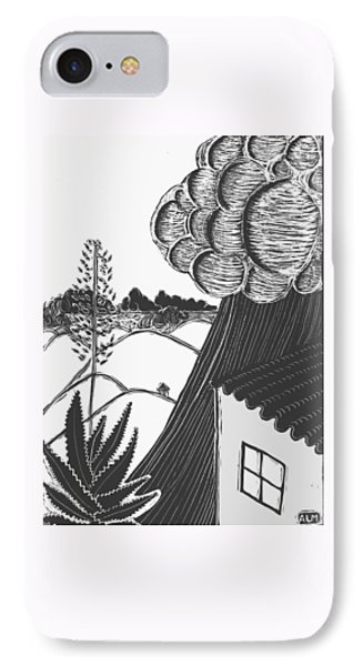 IPhone Case featuring the drawing Lluvia by Aurora Levins Morales