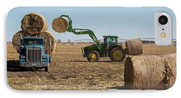 Loading Bales Of Hay IPhone Case by Jim West