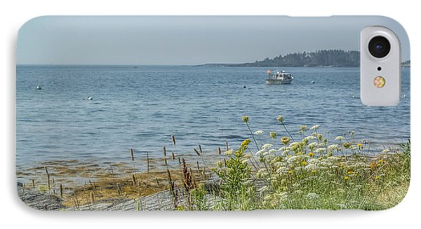IPhone Case featuring the photograph Lobster Boat At Rest by Jane Luxton