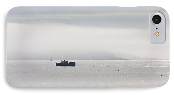 Lobster Boat - Fog - Cranberry Island - Maine IPhone Case