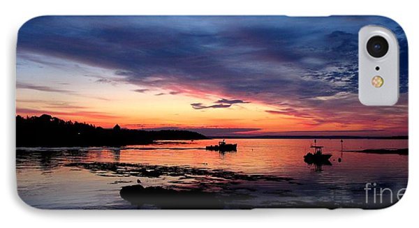 Lobster Boat Sunrise 2 IPhone Case
