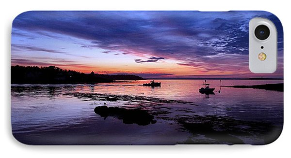 Lobster Boat Sunrise IPhone Case by Donnie Freeman